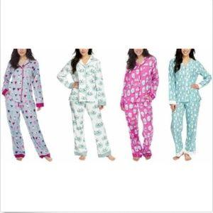 Munki Munki Ladies' 2-piece Flannel PJ Set, NWT